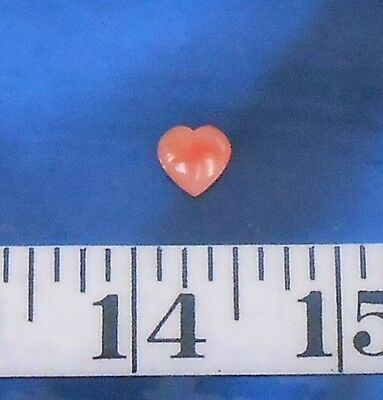 ~ Coral ~ Natural Pink Carved Heart ~Drilled~ Shellcraft ~ Sailor's Valentines ~