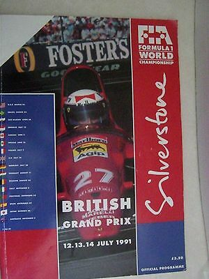 British Grand Prix Silverstone 1991 Official Programme