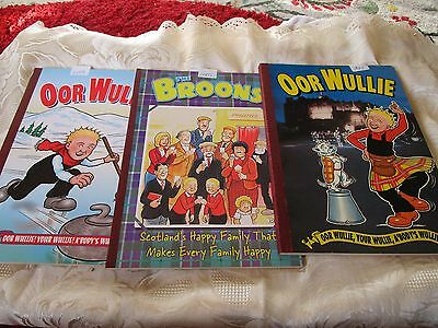 Broons Oor Wullie X3 Annuals