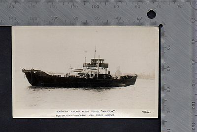 """Shipping - Southern Railway MV """"Wooton"""" Portsmouth - Fishbourne Car Ferry RP"""