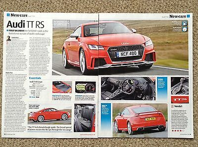 AUDI TT RS 2016 - First Test Drive Article