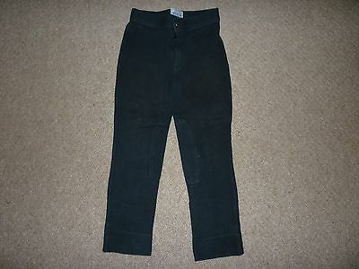 Saxon girls black riding jodhpurs size 8yrs