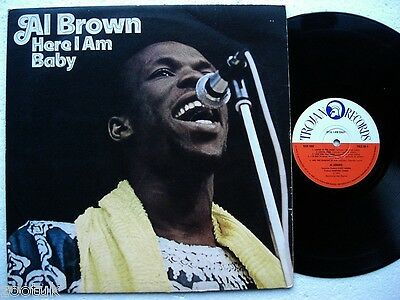 AL BROWN * Here I Am Baby * TROJAN LP 1974