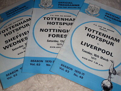 3 X 1970 Fa Cup  Spurs V Liverpool,forest & Weds