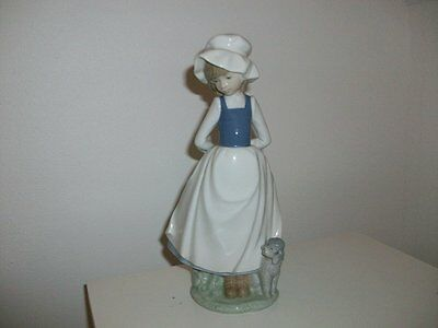 Nao By Lladro - Girl With Dog.