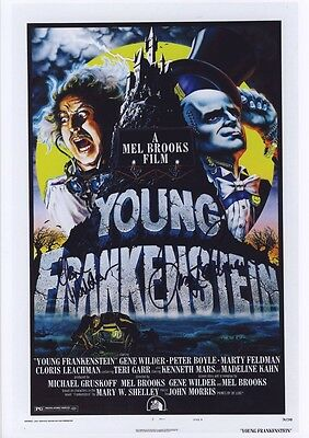 SIGNED YOUNG FRANKENSTEIN  MOVIE POSTER PRINT 12x8