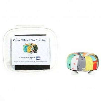 License to Quilt Color Wheel Pincushion Kit - it's a mini Tuffet! Free US Ship
