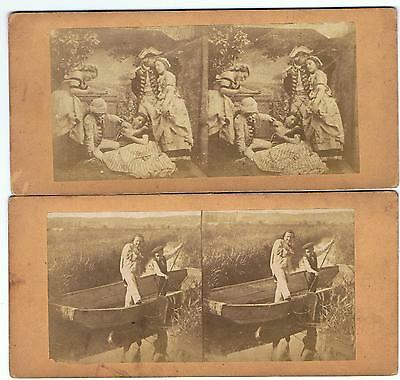 8 Early French Genre Stereoviews France