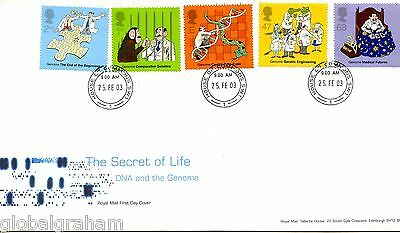 2003 Dna Discoveries Great Britain Royal Mail Fdc House Of Commons Cds Pmk