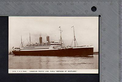 Shipping - Canadian Pacific RMS Empress of Scotland RP - F G O Stuart 2175