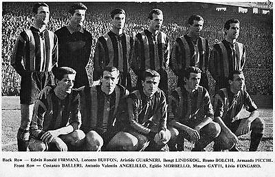Inter Milan Football Team Photo 1960-61 Season