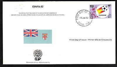 Espana 82-The Official First Day Cover-**dominion Of Fiji**