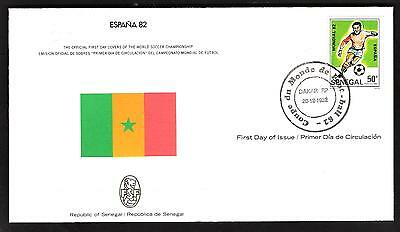 Espana 82-The Official First Day Cover-**republic Of Senegal**