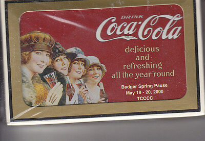 BADGER SPRING PAUSE Coca-Cola Playing Cards  2000 MINT SEALED DECK
