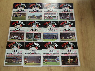 Manchester United Home Football Programme Collection 25 Home & Away 85/86