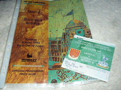 2001 Fa Cup S-Final Spurs V Arsenal  + Ticket