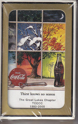GREAT LAKES CHAPTER  Coca-Cola Playing Cards  2000  MINT SEALED DECK