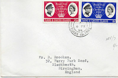 1966 Turks and Caicos Islands Royal Visit Cover