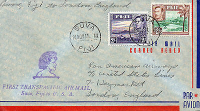 1941 Fiji Pan American Airways First Transpacific Air Mail