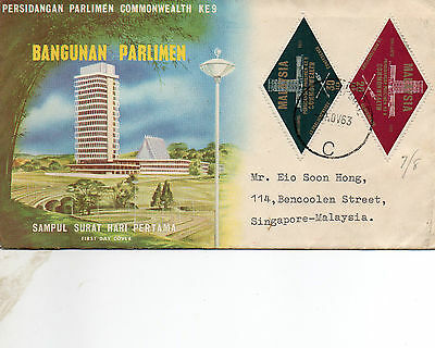 1963 Malaysia First Day Cover to Singapore