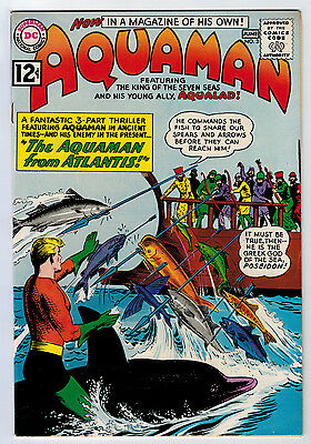 Aquaman #3 8.0 Higher Grade 1962 White Pages Silver Age