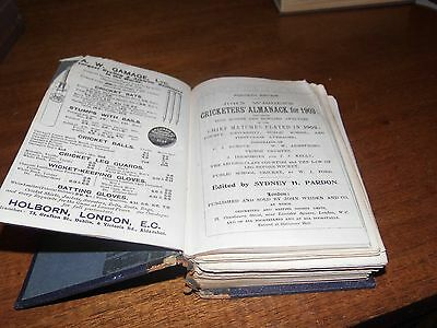 Wisden Cricketers' Almanack 1903 rebound paperbacked edition FAIR only condition