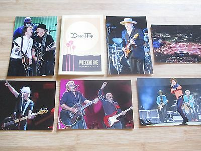 Desert Trip Photo Set Booklet Guide Rolling Stones The Who Paul Mccartney Mint