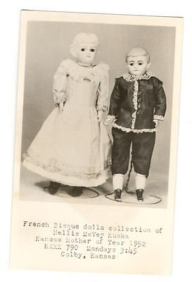 Museum Postcard  French Bisque Doll Collection Colby Kansas      Rppc Photo
