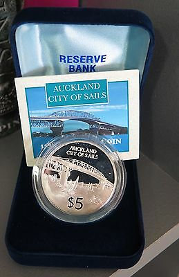 New Zealand: 1996 $5 Auckland Silver Proof Coin
