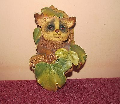Good vintage 1960's Bossons chalkware wall plaque Bush Baby 7 inch.