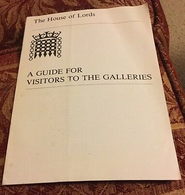 House Of Lords A Guide For Visitors 1988
