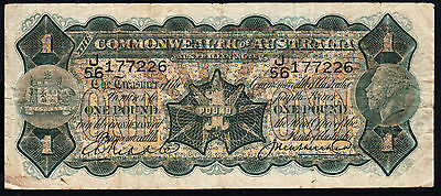 Australia : 1927 £1 Riddle Heathershaw ,K 48, Fine..Natural