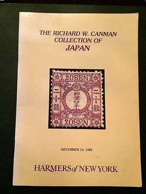 HARMERS OF NEW YORK 1988 Richard Canman Japan auction catalogue