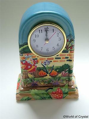Old Tupton Ware ALLOTMENT MANTEL CLOCK Ceramic Hand Painted