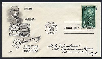 UNITED STATES OF AMERICA 1956 FIRST DAY COVER FDC USA #a276 WASHINGTON CANCEL!
