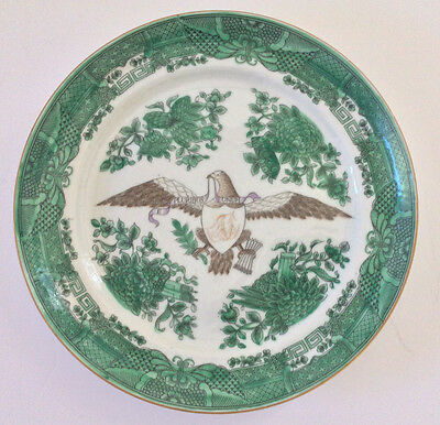 EXTREMELY RARE Chinese Export Circa 1810-1825 Fitzhugh Armorial Plate MINT COND