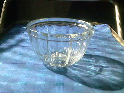 Small Moulded Clear Glass Jelly Mould