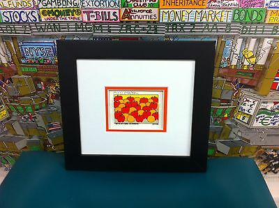 """James Rizzi 3-D """" Apples and Oranges """" Signed & Numbered 2002 Mini Framed"""