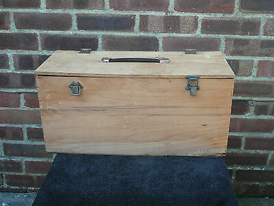 Vintage Wooden Box Case Tool Storage Wood Chest Table Sewing Box Hobbies Crafts