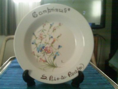 Italian Continental Galvani Hand Painted Bowl