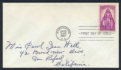 UNITED STATES OF AMERICA 1957 FIRST DAY COVER FDC USA #a286 WASHINGTON CANCEL!