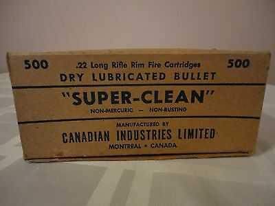 EMPTY Canadian Industries Limited 22 Long Rifle Brick Box