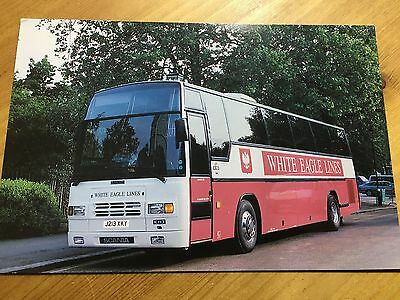 Postcard White Eagle Lines The Best In Coach Travel To Poland As Photo