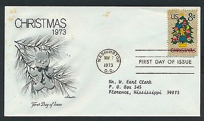 UNITED STATES OF AMERICA 1973 FIRST DAY COVER USA FDC #a113 WASHINGTON CANCEL!