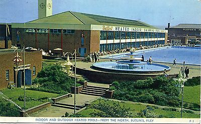 Butlin's Holiday Camp - Filey - Indoor & Outdoor Heated Pools - Postcard View