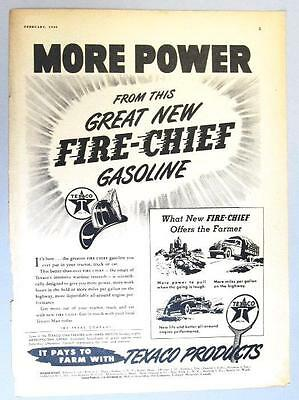 8X11 Original 1946 Texaco Fire Chief Ad MORE POWER SEE WHAT FIRE CHIEF OFFERS