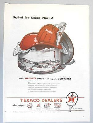 Original 1946 Texaco Fire Chief Ad  STYLED FOR GOING PLACES WITH FIRE POWER