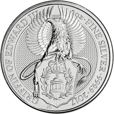 2017 Great Britain Silver Queen's Beasts - Griffin £5 - 2 oz - BU