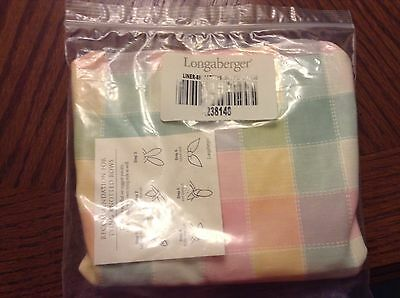 Longaberger Small Gathering Pastel Plaid Liner!  New In Package!