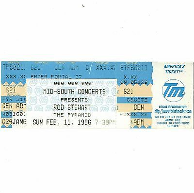 ROD STEWART Concert Ticket Stub MEMPHIS TN 2/11/96 PYRAMID MAGGIE MAY THE FACES